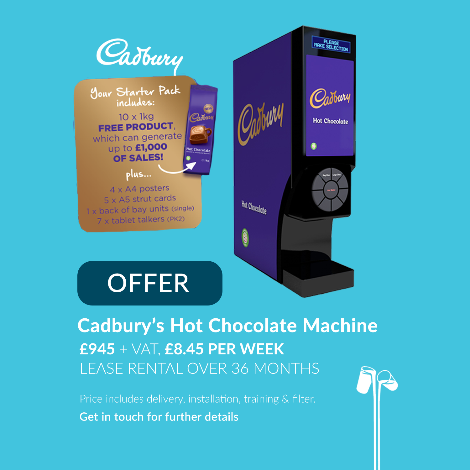 Cadburys hot chocolate machine offer